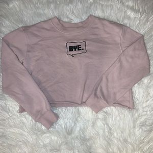💗💗CUTE FOREVER 21 CROPPED CREWNECK 💗💗
